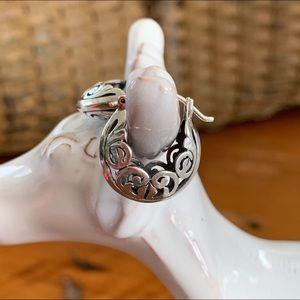 Silpada Jewelry - Silpada Filigree Open Hoop P1126-Retired